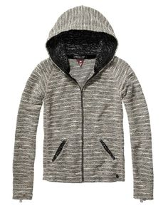 Basic Bouclé Hoodie In Different Qualities - Scotch & Soda