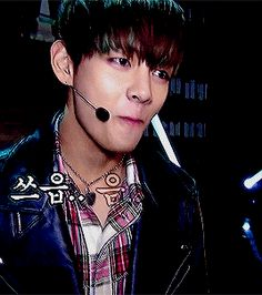 FUCKING SHIT HES SO SEXY. I have a weakness for bad boy tae in black leather jackets