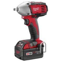 Bare-Tool Milwaukee 2651-20 18-Volt M18 3/8-Inch Compact Impact Wrench with Ring (Tool Only, No Battery) Milwaukee designed impact mechanism provides maximum application speed. Milwaukee four-pole frameless motor for maximum efficiency and run time. 3/8-inch friction ring allows quick socket changes. Built-in LED light illuminates work surface. Weighs 4.1 pounds and is 5-3/4 inches long.  #Milwaukee #Home_Improvement
