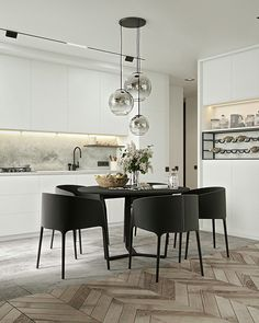 Kitchen | Dining Room Inspiration / Image Via Behance #kitcheninspo #kitchen #design #interiordesign #diningideas #openplan