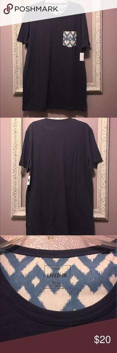 NWT Men's Gap Print Pocket Tee - XL Tall NWT Men's Gap Print Pocket Tee. Brand new with tags. See photo for material content. Blue with printed pocket. Size XL tall. Smoke free home. No stains, rips or holes. Retail $35 GAP Shirts Tees - Short Sleeve