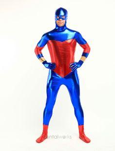 Blue And Red Shiny Metallic Unisex Zentai Suit $32.99 http://www.zentaiworks.com/blue-and-red-shiny-metallic-unisex-zentai-suit-p-2177.html