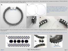 "Схемы - БРАСЛЕТ ""Черная лилия"" ARMBAND ""Black Lily"" Beaded Braclets, Beaded Bracelet Patterns, Beaded Earrings, Diy Bead Embroidery, Seed Bead Jewelry, Bracelet Tutorial, Beading Tutorials, How To Make Beads, Wall Photos"