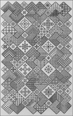 Blackwork----looks neat. Would be interesting to try some day