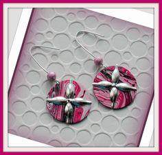 (◕◡◕✿)~Boucles d'oreilles pendantes rondes légères de créateurs fait main/www.alittlemarket.com/boutique/lesartistesetvous : Boucles d'oreille par lesartistesetvous