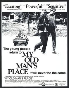 My Old Man's Place - USA (1971) Director: Edwin Sherin *Note: Currently available on a limited edition DVD exclusively by Code Red: http://codereddvd.bigcartel.com/product/my-old-man-s-place