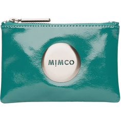 Mimco Mim Pouch (689.055 IDR) ❤ liked on Polyvore featuring bags, handbags, clutches, fillers, mimco, accessories - bags, fillers - simple, teal, heart shaped purse and blue purse