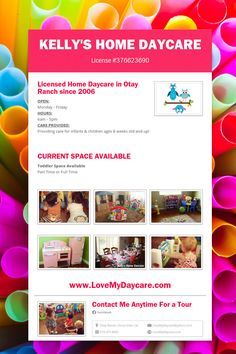 Raine's Daycare | Flyers | Pinterest | Daycare ideas and Daycare forms