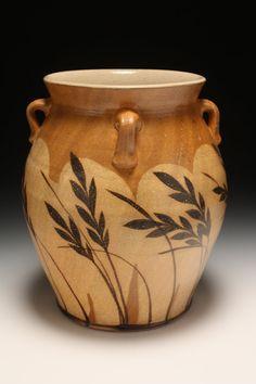 Saltfired vase or crock KC47 by KyleCarpenter on Etsy, $85.00