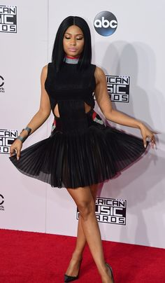 Pin for Later: See All the Sexy Stars on the AMAs Red Carpet! Nicki Minaj