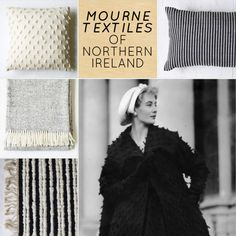 Mourne Textiles of Ireland, incredible designs from the 50s and 60s, re-launched for modern times. #mourne #textiles #mournetextiles #fabric #pillow #throw #sheep #ireland #irish #familybusiness