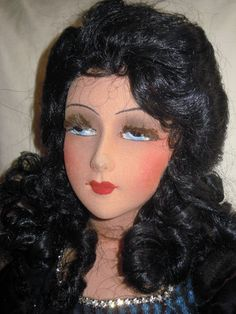 A beautiful dark haired doll
