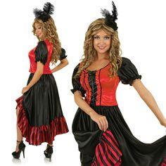 Womens Wild Western Saloon Girl Costume