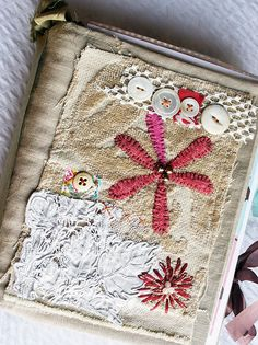 Art Quilt Journal (flower) by Rebecca Sower
