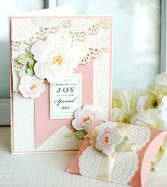 Create this gorgeous wedding card and pillow box in just a few simple steps- visit the Anna Griffin blog for instructions! http://blog.annagriffin.com/?p=339