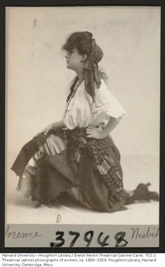 Evelyn Nesbit theatrical cabinet card.