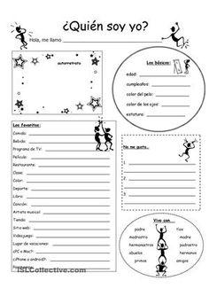 Rompehielos para los primeros días del año escolar; recoger información sobre los estudiantes; se puede usar la información para actividades o formar grupitos - ESL worksheets