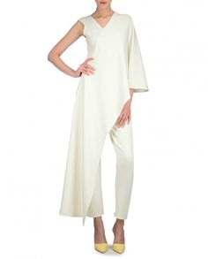 White Layered Jumpsuit