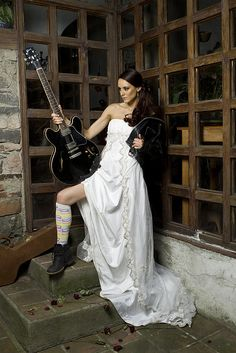 Trash the dress guitar (swap with a gun and sexier boots and Its what we are doing)