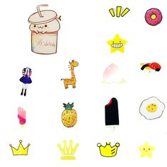 0.39$ (Buy here: http://alipromo.com/redirect/product/olggsvsyvirrjo72hvdqvl2ak2td7iz7/32725087470/en ) 2016 Arrival Kawaii Cloth Pin Badge Mend Decorate Patch Jeans Jackets Bag Shoes Clothes Decoration Applique for just 0.39$