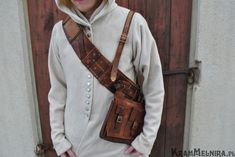 The Witcher leather bandolier, front