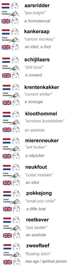 Dutch swear words are bizarre ...