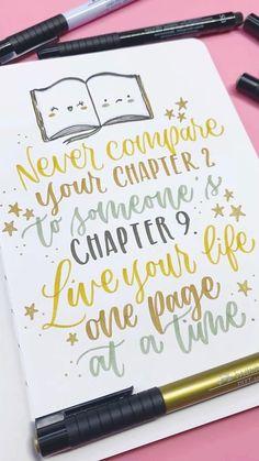 Never compare yourself   Brush Lettering Idea
