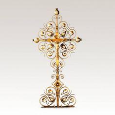 Grabkreuz »Saviano« Metall mit Jesus • Hochwertige Schmiedekunst & Handarbeit • Jetzt versandkostenfrei kaufen bei ▷ Serafinum.de