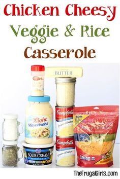 Chicken Cheese Veggie and Rice Casserole Recipe! ~ from TheFrugalGirls.com ~ such a delicious easy dinner and the perfect way to sneak some vegetables into your meal! #casseroles #recipes #thefrugalgirls