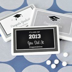 Personalized Graduation Mini Mint Favors | hotref.com