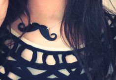 Mustache Necklace