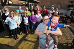 Sara Widdowson and her son, Corey, with the group at their support meeting at St Richard's Hospice. Picture by John Anyon. 1015833501