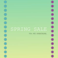 I'm offering a discount! Spring Sale, Etsy Seller, Graphics, Charts, Graphic Design