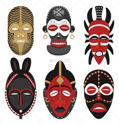 African mask templates KentBaby