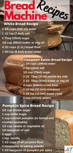 Bread Machine Recipes Healthy, Bread Maker Recipes, White Bread Machine Recipes, Cinnamon Raisin Bread Recipe Bread Machine, Cinnamon Bread Recipe For Bread Machine, Pumpkin Bread Recipe For Bread Machine, Bread Dough Recipe, Easy Bread Recipes, Bread Machine Mixes
