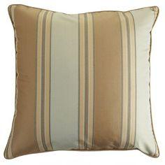 Bellingham Stripe Pillow - Truffle