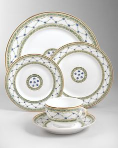 This will be my china pattern...Love it! Allee Royale Dinnerware by Raynaud at Neiman Marcus.