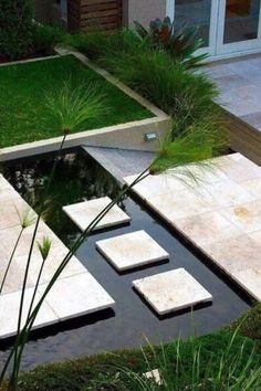 Zen Gardens & Asian Garden Ideas images) - InteriorZine We handpicked for you an impressive collection of ideas and visions all inspired from the Eastern philosophy that explores the connection between nature and Backyard Patio Designs, Ponds Backyard, Backyard Landscaping, Landscaping Ideas, Paving Ideas, Backyard Ideas, Contemporary Garden Design, Landscape Design, Modern Backyard Design
