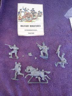 Strombecker/Testor 54mm Civil War Set Soldier Horse White Metal Military Figures #StrombeckerTestors