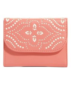 Loving this Coral Laser-Cut Petite Trifold Wallet on #zulily! #zulilyfinds