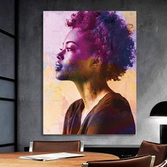 African-American Woman Vector Beauty Woman, African Art, Canvas decoration for living room, Housewarming Gift, Black Woman Art Framed Canvas Prints, Canvas Frame, Canvas Art, Black Women Art, Black Art, Comic Poster, African American Women, Beautiful Paintings, African Art
