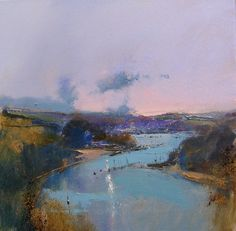 Down the Dart from Greenway by Peter Wileman Watercolor Landscape, Abstract Landscape, Landscape Paintings, Abstract Art, Peter Wileman, Oil Painting Gallery, Beautiful Paintings, Cool Artwork, Painting Inspiration
