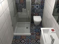 Πλακάκια μπάνιου Patchwork Pop Color Bathroom Layout, Modern Bathroom Design, Bathroom Interior Design, Spa Inspired Bathroom, Sims House Plans, Toilet Room, Home Hacks, Luxury Homes, Decoration