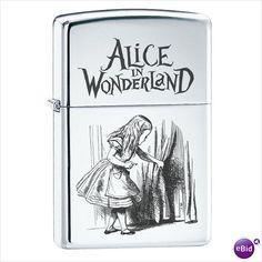 Alice in Wonderland High Polish Chrome Zippo Lighter
