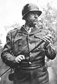"""U.S.General Patton was one of the most well known generals in WW2. He was a tank commander who helped """"drive"""" the allies to victory."""