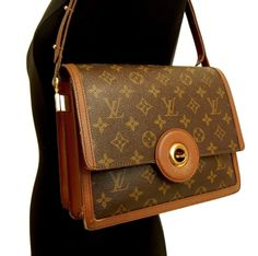 1d053381b08b Authentic LOUIS VUITTON Monogram -RASPAIL- LV Shoulder Bag M51372 vintage