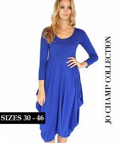 Jo Champ Cobalt Drape Dress: www.getthis.co.za