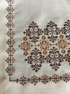 Cross Stitch Boarders, Biscornu Cross Stitch, Cross Stitch Rose, Cross Stitch Flowers, Cross Stitch Designs, Cross Stitching, Cross Stitch Embroidery, Cross Stitch Patterns, Ribbon Embroidery