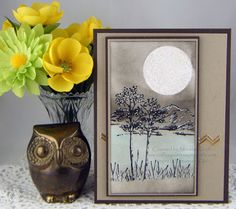 Moonlight in the Mountains - For details and product used, please visit my blog.