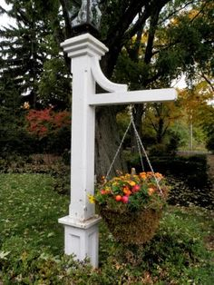 Wood lamp post lampost with sign address antique vintage outdoor lamp post floral charm lamp post ideasgarden aloadofball Gallery